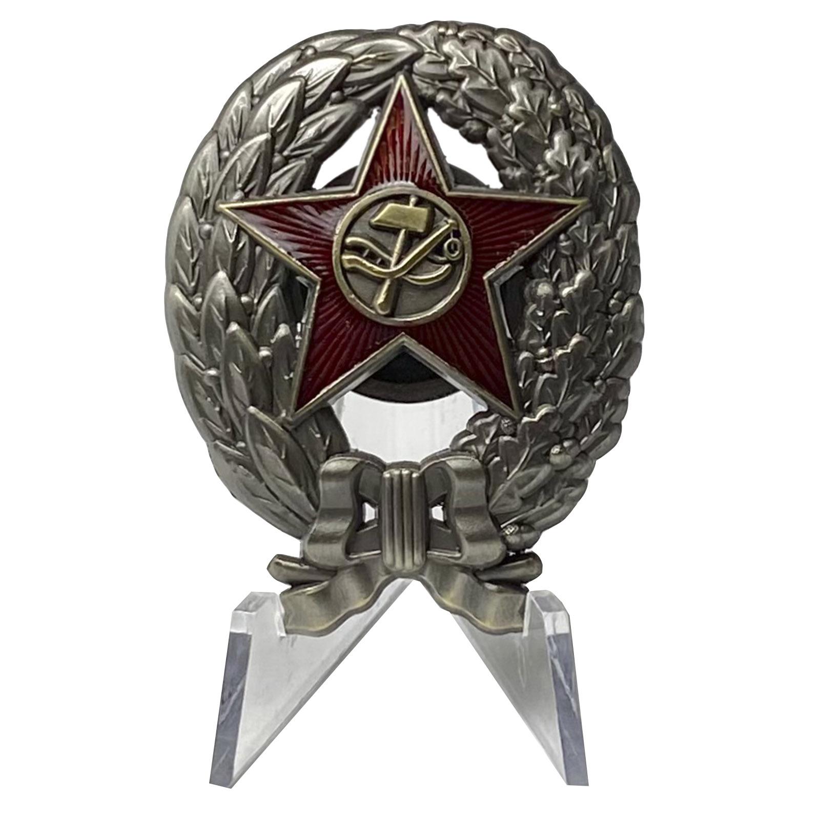 Знак Краскома РККА (1918 г.) на подставке