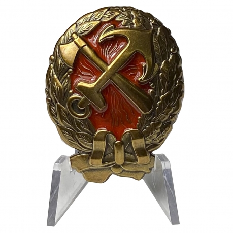 Знак Краскома ж.д. войск на подставке