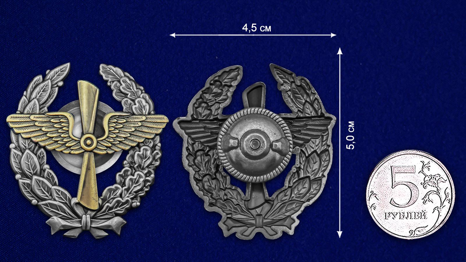 Знак Красного военного лётчика РККА - размер
