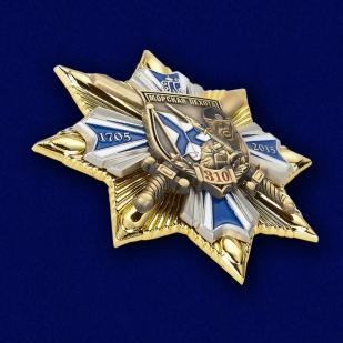 """Знак """"Морская пехота - 310 лет"""" в бархатистом наградном футляре из флока - общий вид"""