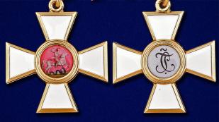 Знак ордена Святого Георгия 3 степени - аверс и реверс