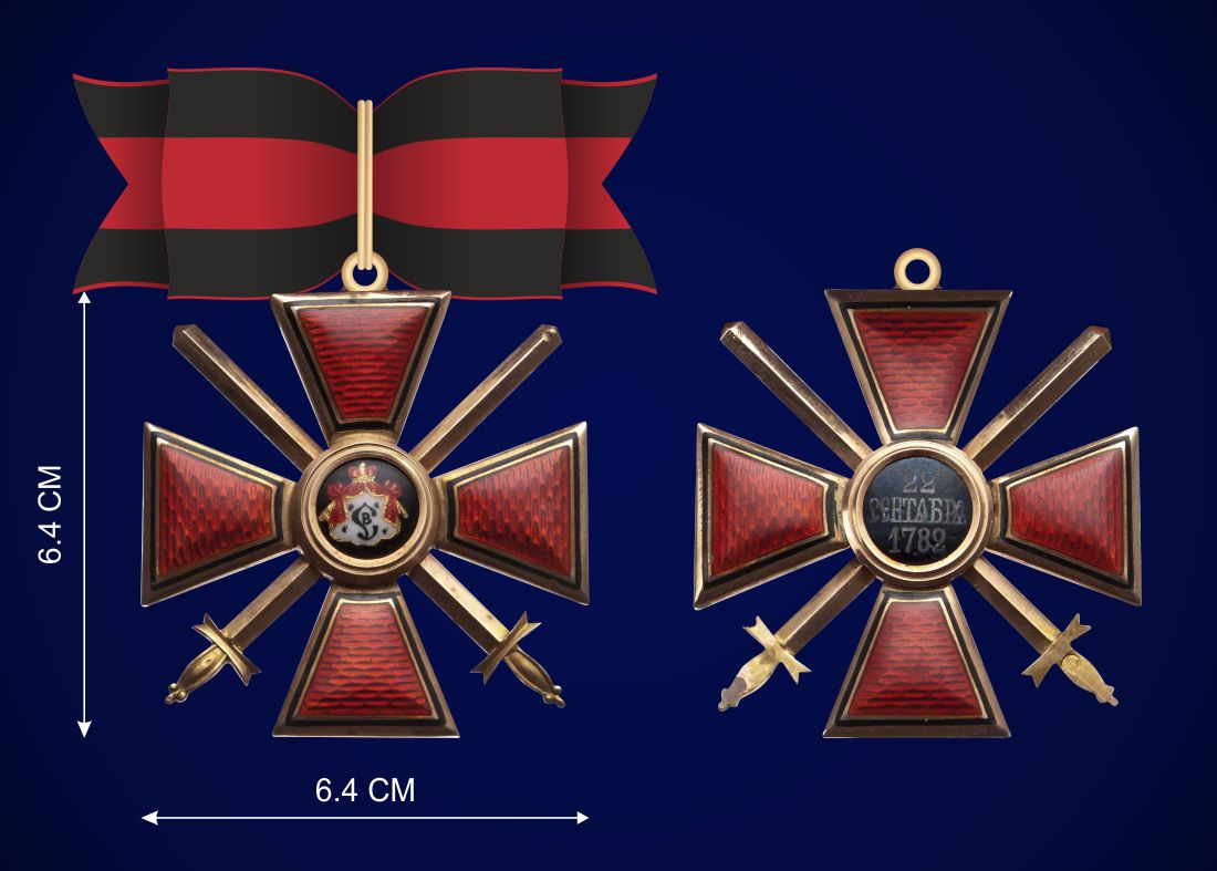 Знак ордена Святого Владимира 1 степени - аверс и реверс