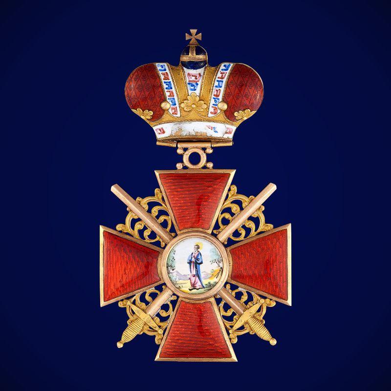 Знак ордена Святой Анны 2 степени (с короной и мечами)