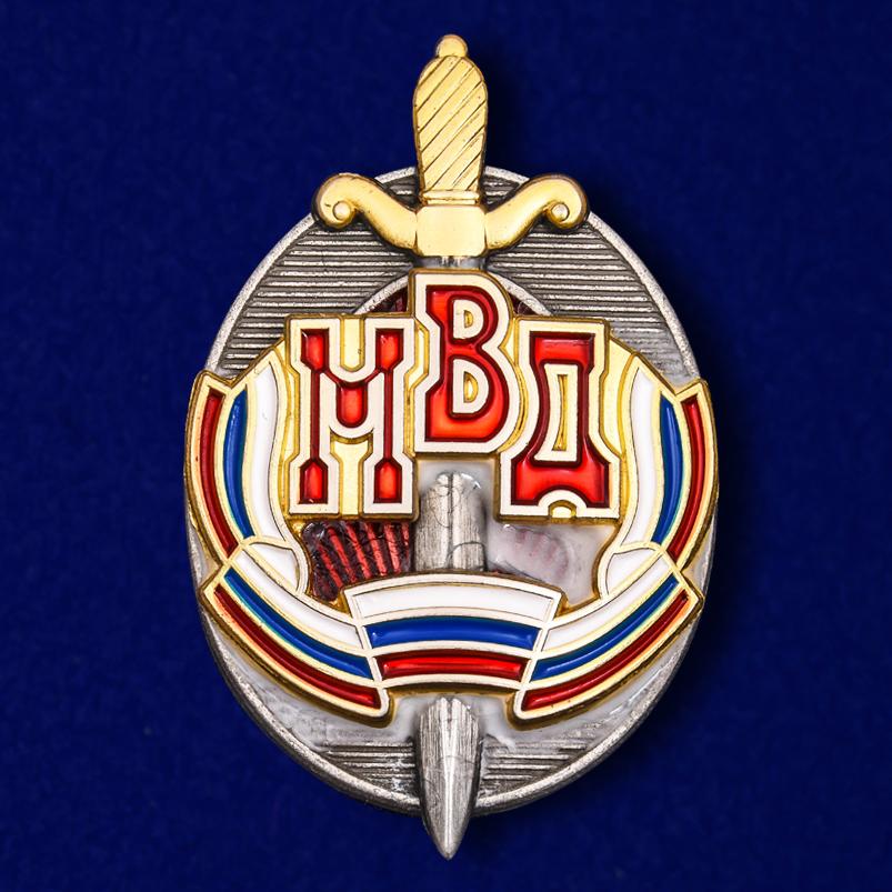 """Знак """"Почетный сотрудник МВД"""" на подставке"""