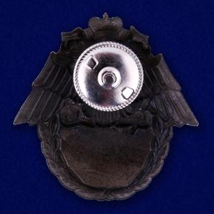 Знак ФПС России 100 выходов на охрану границы в бархатном футляре - Реверс