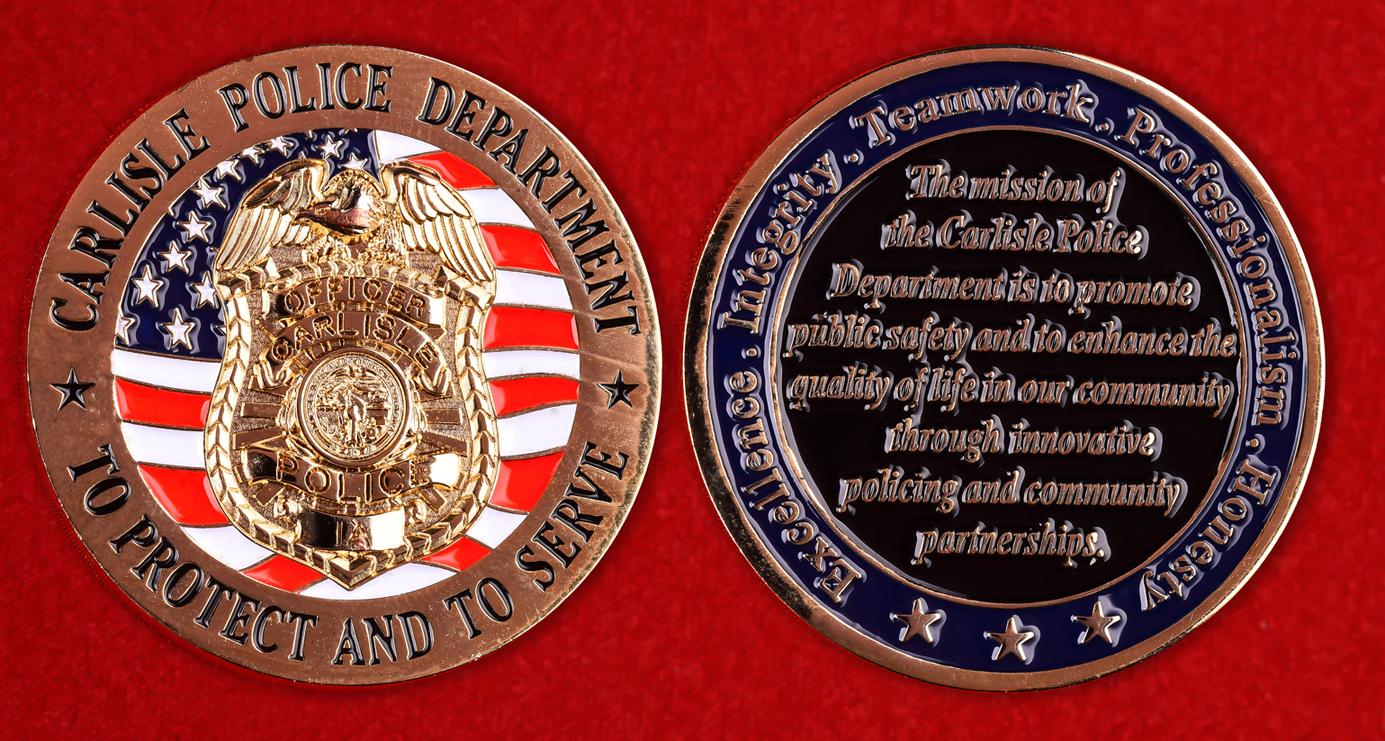 """Знак полиции США """"Департамент Карлайла"""""""
