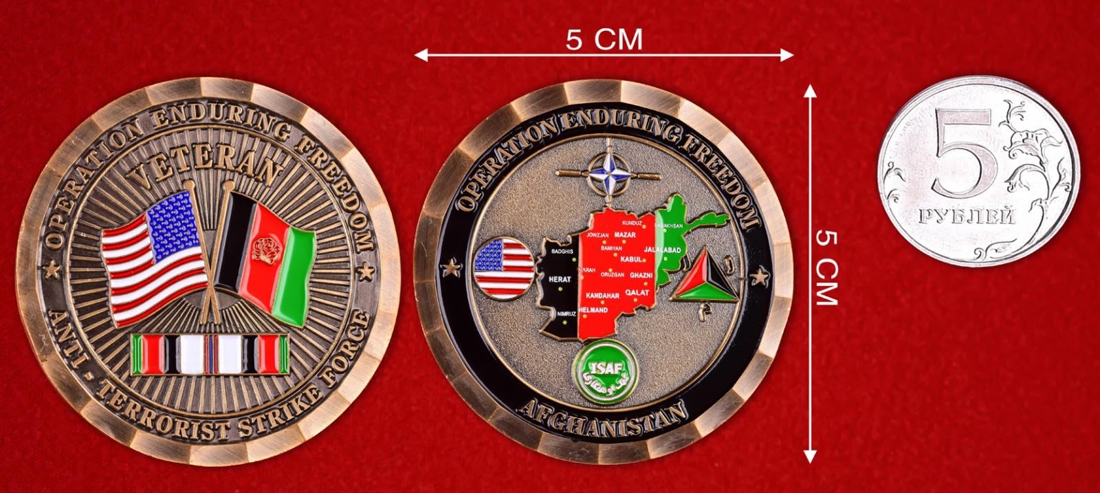 """Знак спецназа США """"Ветеран ударных антитеррористических групп в Афганистане"""""""