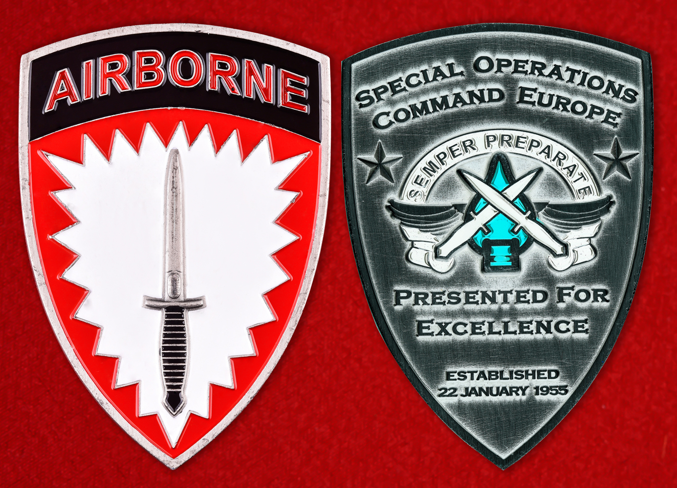 """Знак США """"Командование специальных операций в Европе"""""""