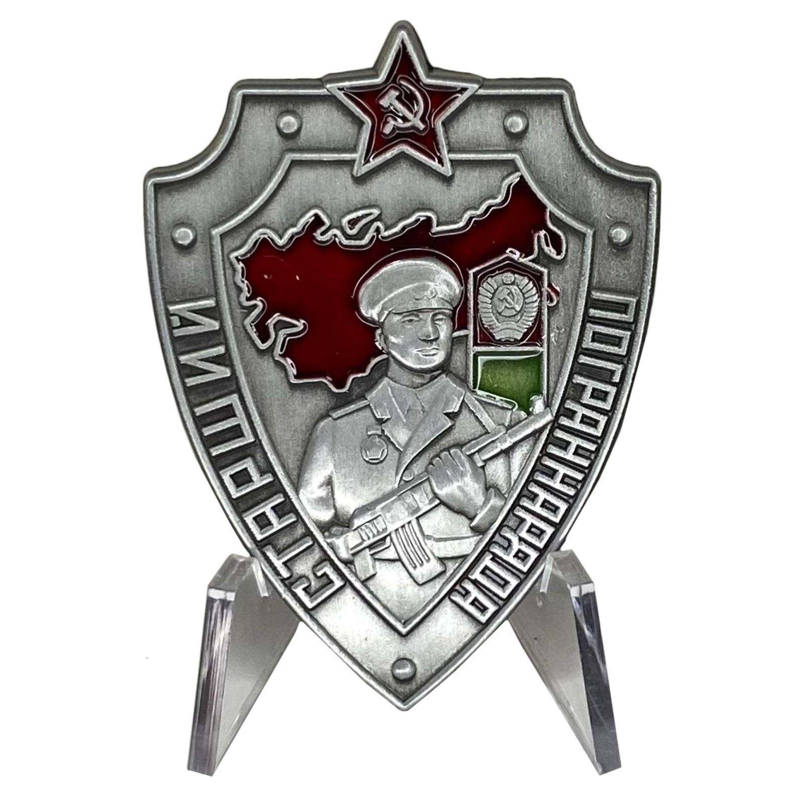 Знак Старший пограннаряда СССР на подставке