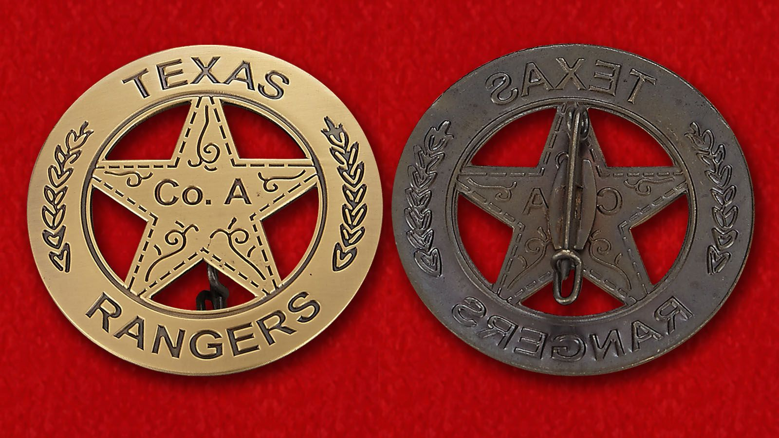 Badge Texas Rangers - obverse and reverse