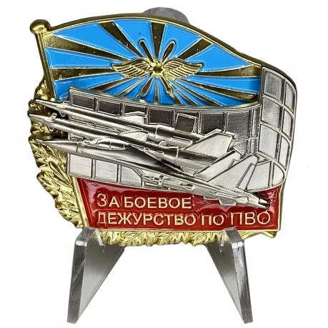 Знак ВКС За боевое дежурство по ПВО на подставке