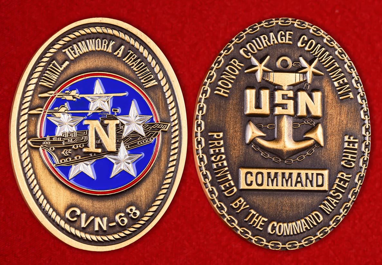 """Знак ВМС США """"Авианосец Нимиц"""""""
