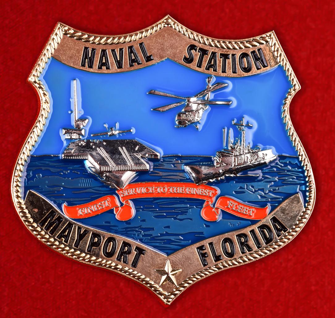 """Знак ВМС США """"База Мейпорт"""""""