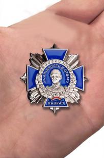 """Знак """"За храбрость и отвагу"""" (Кавказ) - вид на руке"""
