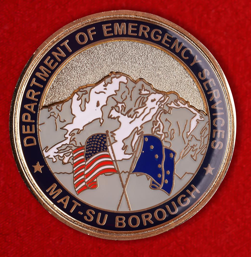 """Знак """"За отличие"""" отдела аварийной службы боро Мат-Су. Аляска. США"""
