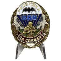 Знак За службу в Разведке ВДВ на подставке
