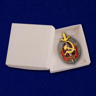 Знак «Заслуженный работник СМЕРШ» с доставкой