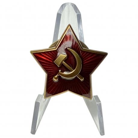 Звезда-кокарда РККА на подставке