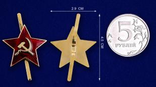 Звезда на пилотку - сравнительный размер